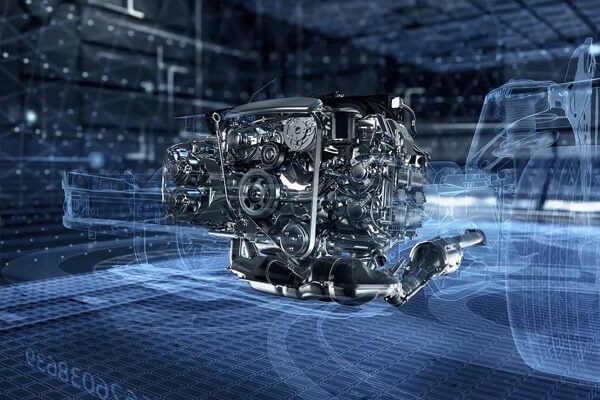The famous Subaru Boxer engine