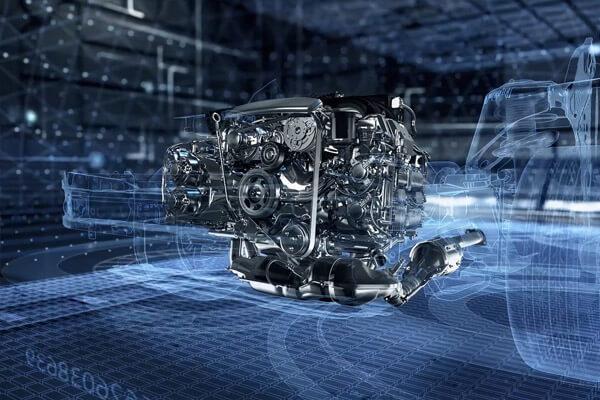 The famous Subaru Boxer engine