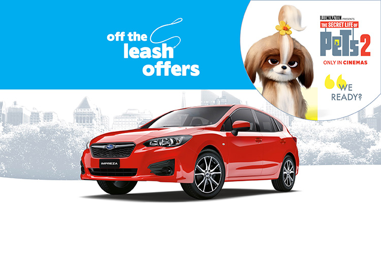 Get a great driveaway offer on the Impreza, built for fun with friends. Terms and conditions apply.