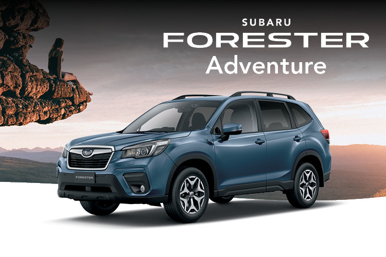 Get a great deal on the limited edition Forester Adventure. Hurry in - offer ends August 31st. Terms and conditions apply.