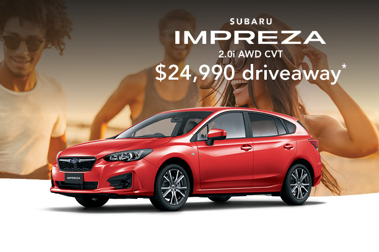 Get a great deal on the Subaru Impreza, built for fun with friends. Terms and conditions apply.