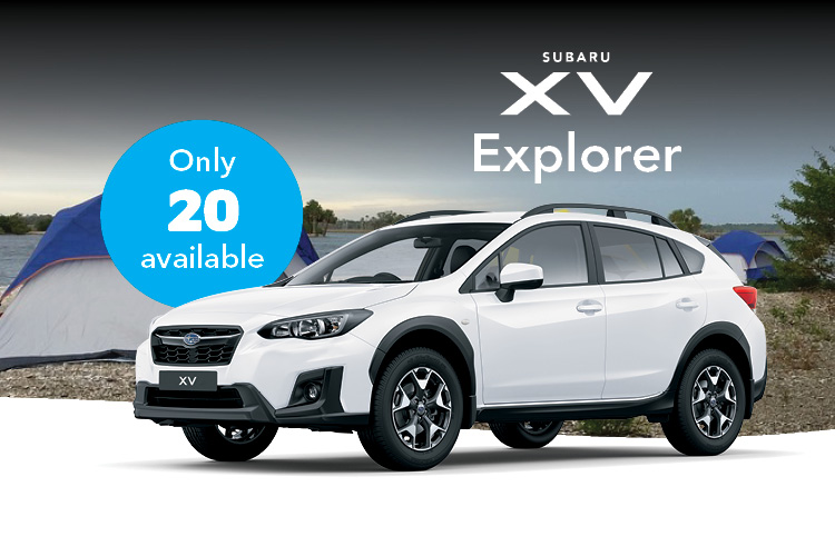 Get a great deal on the limited edition XV Explorer. Only 20 available - get in quick! Terms and conditions apply.