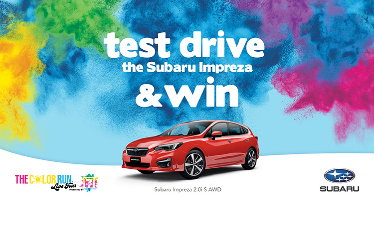 We're celebrating our partnership with The Color Run™ Love Tour for 2019 by giving you the chance to win your very own Love Tour in the Subaru Impreza.