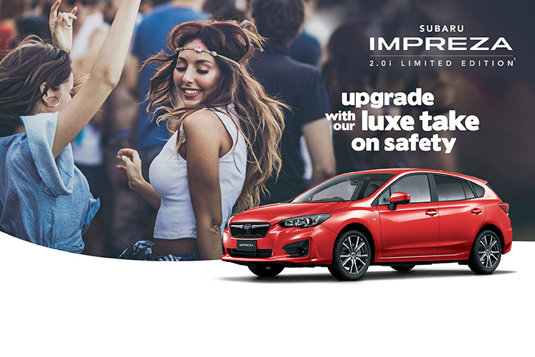 Cruise with your friends in advanced Subaru Impreza style in the new Impreza 2.0i Limited Edition!