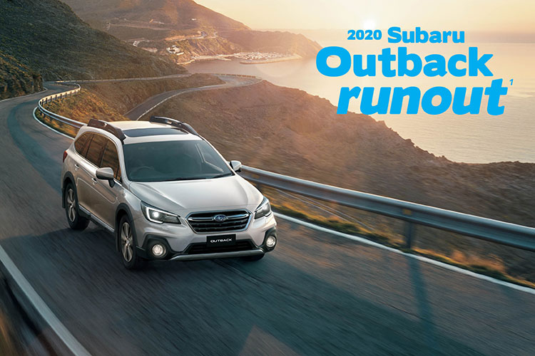 Hurry in and grab a Subaru Outback AWD runout model – and choose your offer either Genuine Subaru accessories fitted to the value of $1000 OR 2 years free scheduled servicing¹. T&Cs apply.