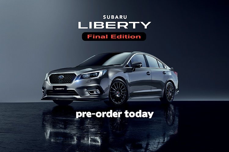To farewell Subaru's flagship sedan after 31 years, a specially commissioned Subaru Liberty Final Edition model is coming – but there's only 31 available! With limited numbers available you'll have to be quick to secure the colour you want.