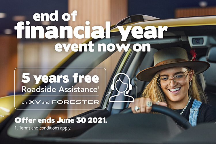 Experience the love Subaru owners have felt for decades with a brand new Subaru XV or Subaru Forester and get 5 years FREE Roadside Assistance. Terms and conditions apply.